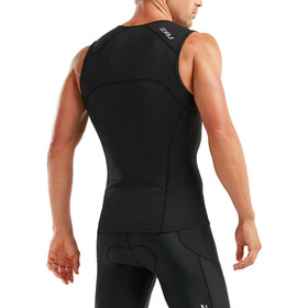 2XU Active Koszulka triathlonowa Mężczyźni, black/black